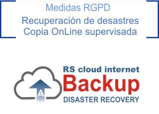 medidas rgpd backup on line Madrid